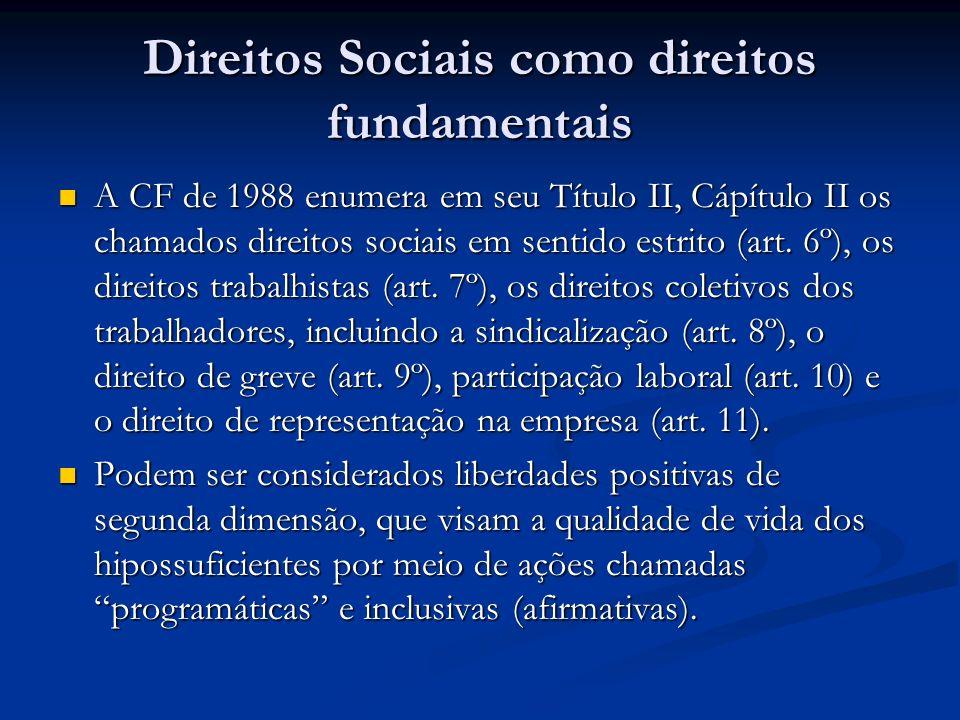 Direitos Sociais como direitos fundamentais