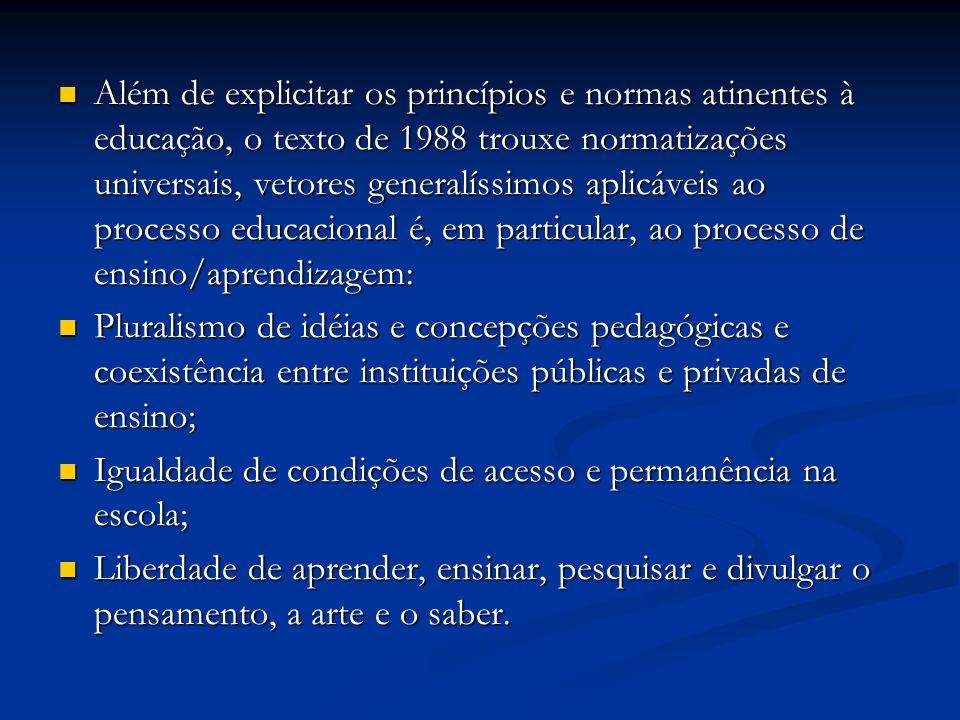 Igualdade de condições de acesso e permanência na escola;