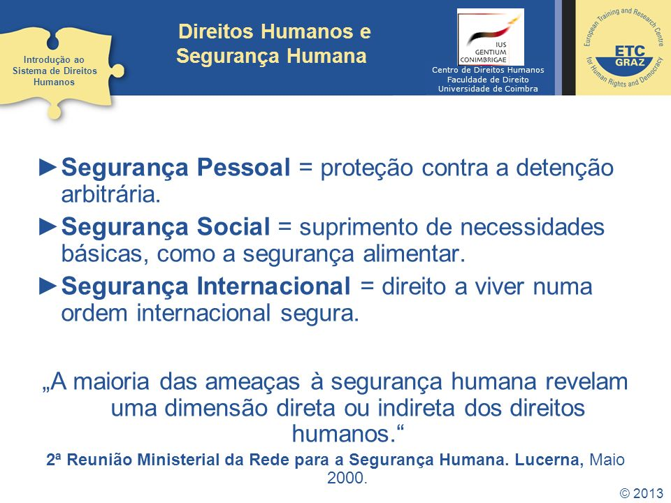 Direitos Humanos e Segurança Humana