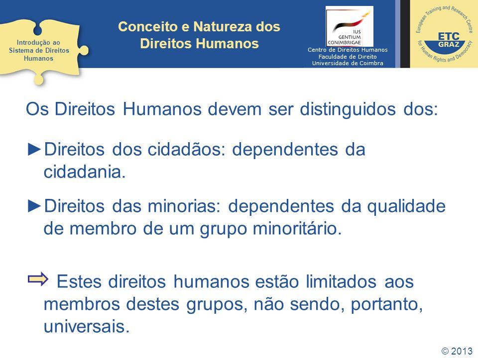 Conceito e Natureza dos Direitos Humanos