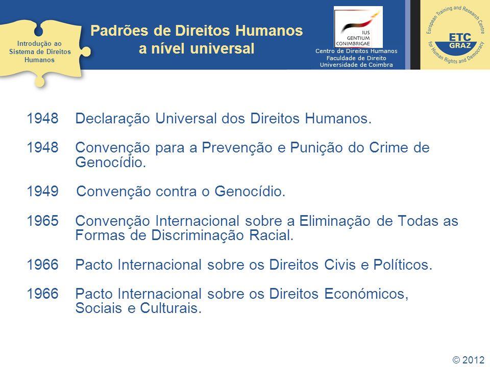Padrões de Direitos Humanos a nível universal