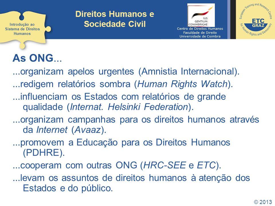 Direitos Humanos e Sociedade Civil