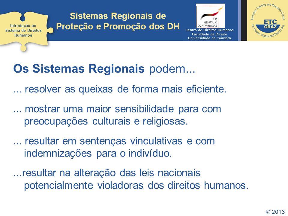 Sistemas Regionais de Proteção e Promoção dos DH