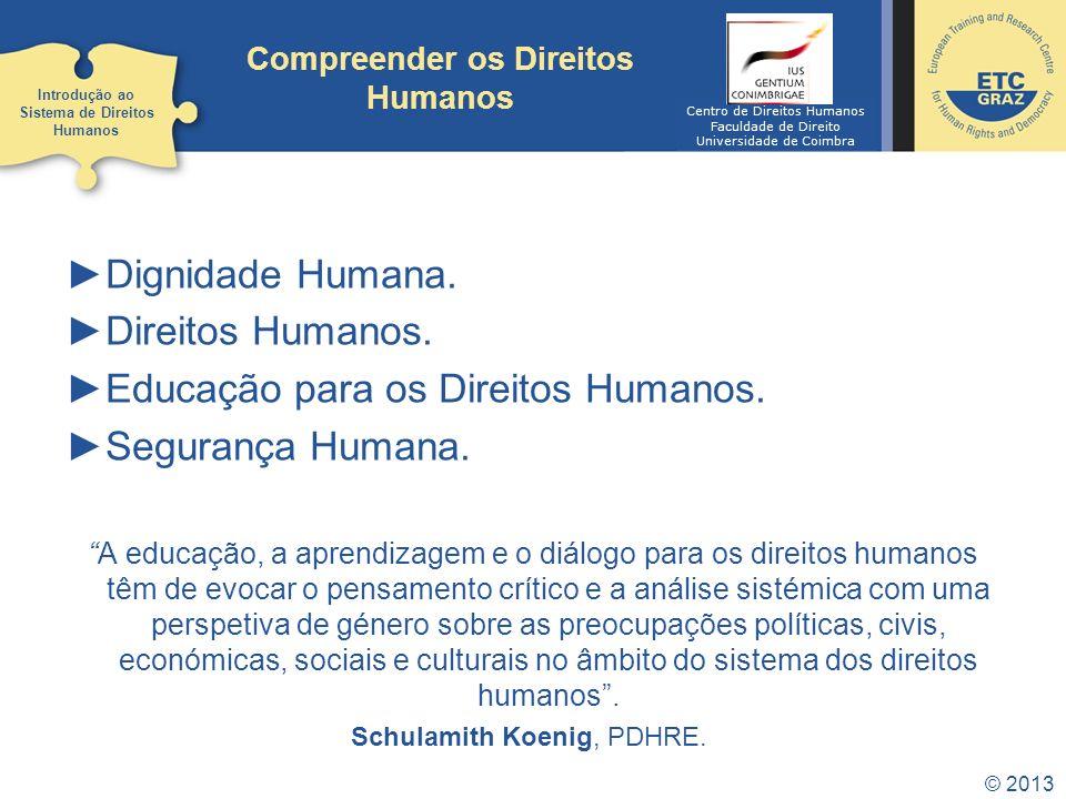 Educação para os Direitos Humanos. Segurança Humana.