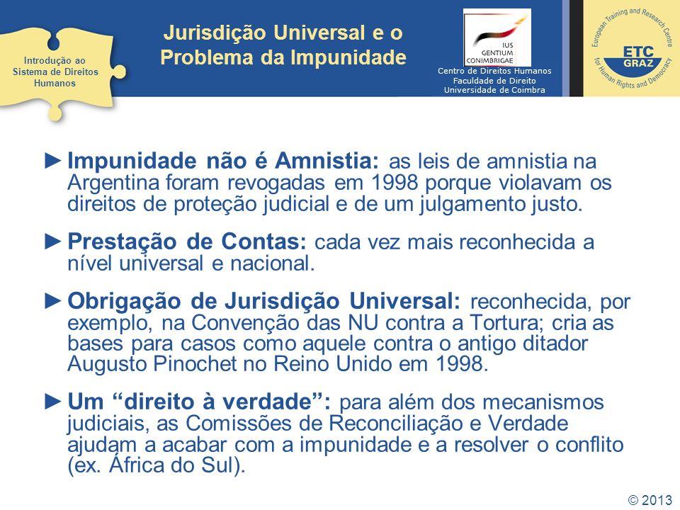 Jurisdição Universal e o Problema da Impunidade