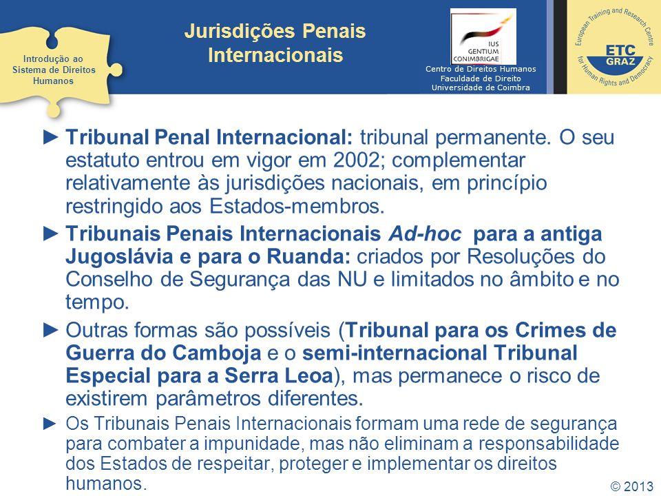 Jurisdições Penais Internacionais