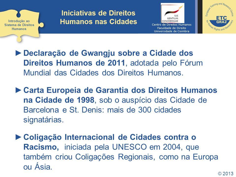 Iniciativas de Direitos Humanos nas Cidades