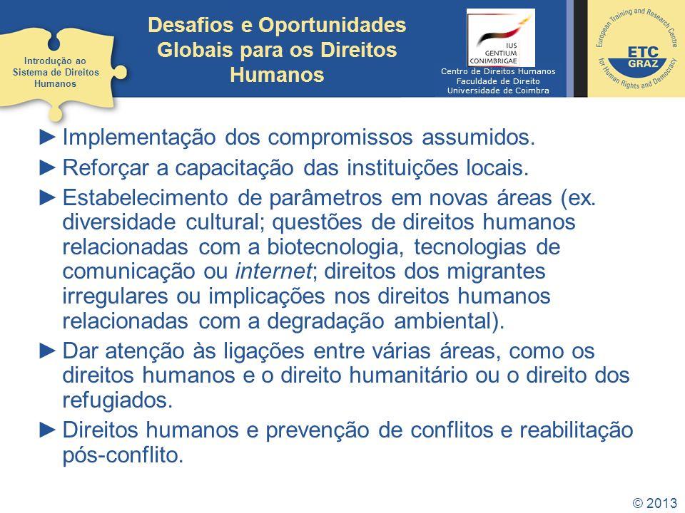 Desafios e Oportunidades Globais para os Direitos Humanos