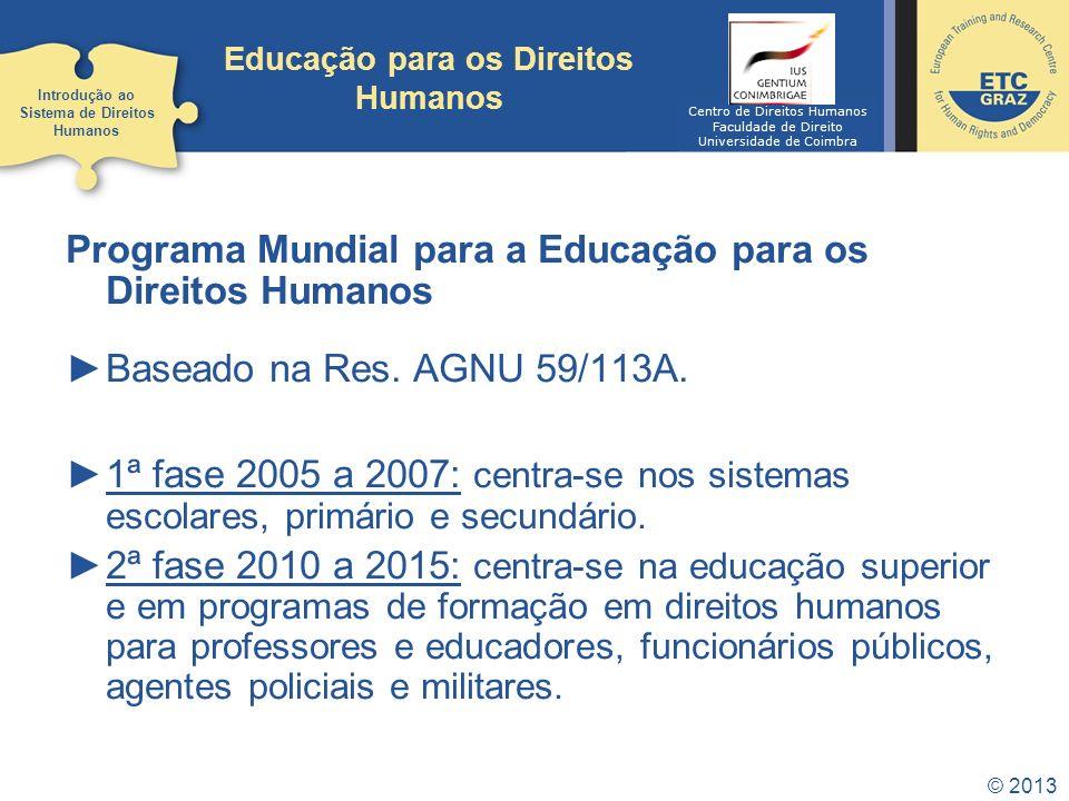 Educação para os Direitos Humanos
