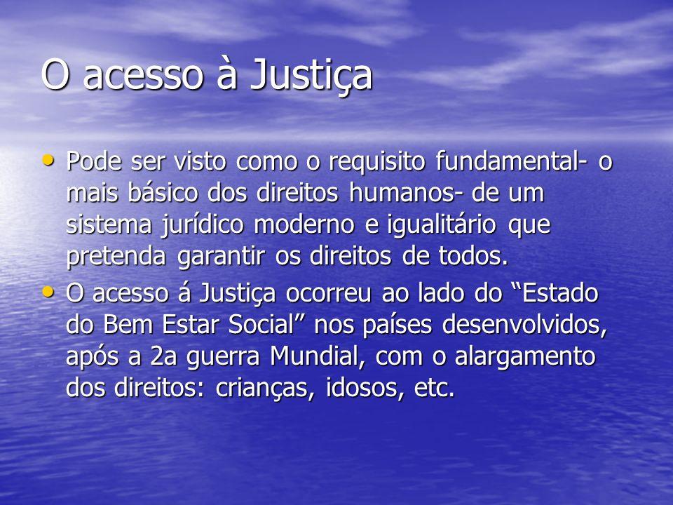 O acesso à Justiça
