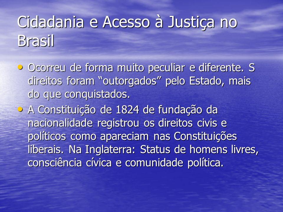 Cidadania e Acesso à Justiça no Brasil