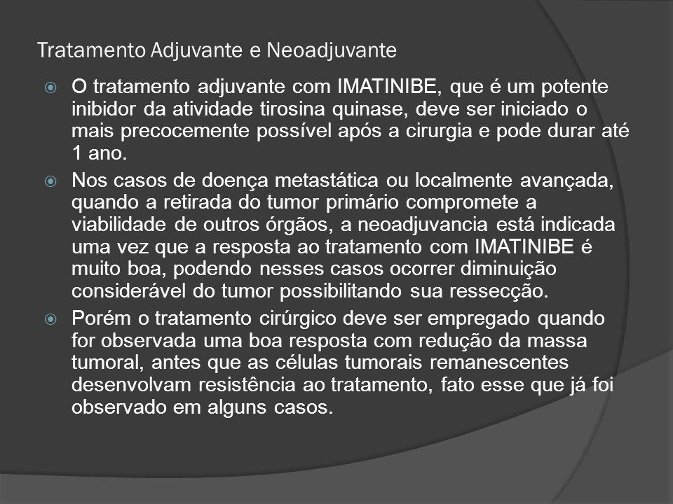 Tratamento Adjuvante e Neoadjuvante