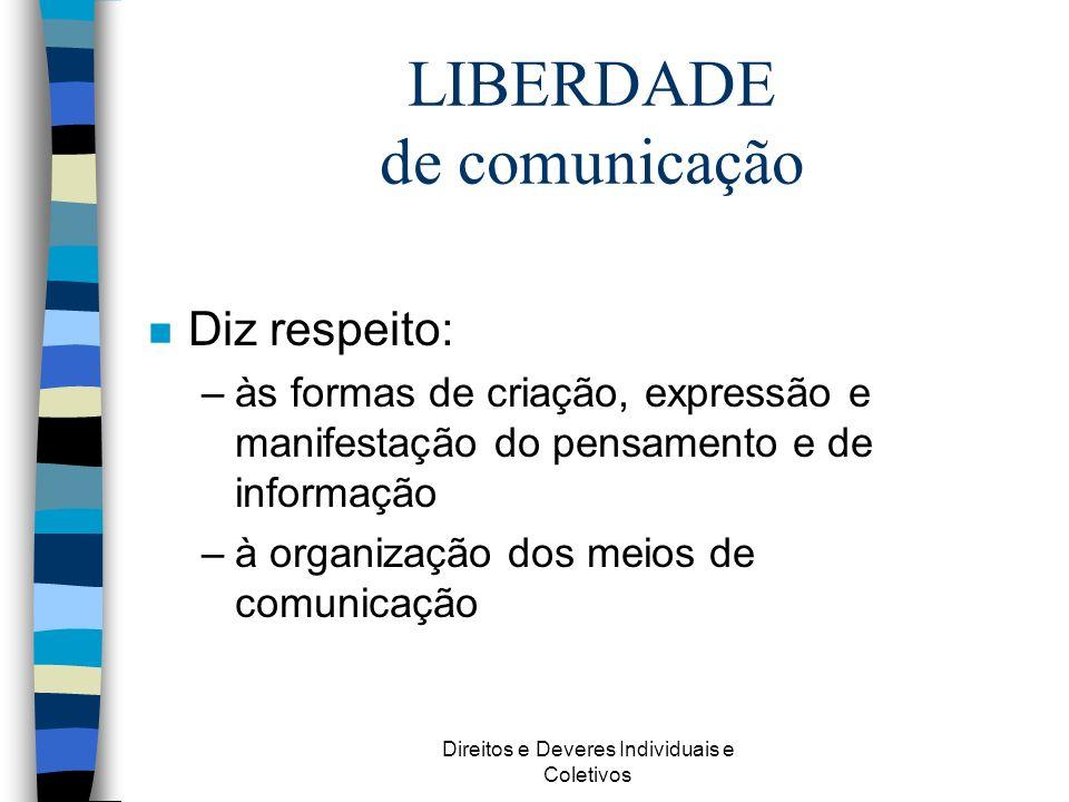 LIBERDADE de comunicação
