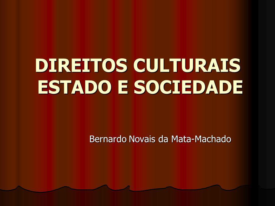 DIREITOS CULTURAIS ESTADO E SOCIEDADE