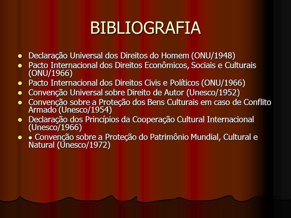 BIBLIOGRAFIA Declaração Universal dos Direitos do Homem (ONU/1948)