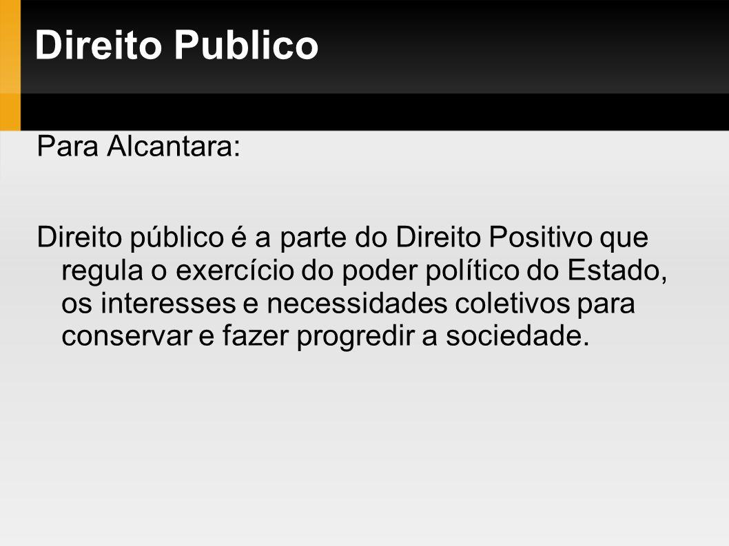 Direito Publico Para Alcantara: