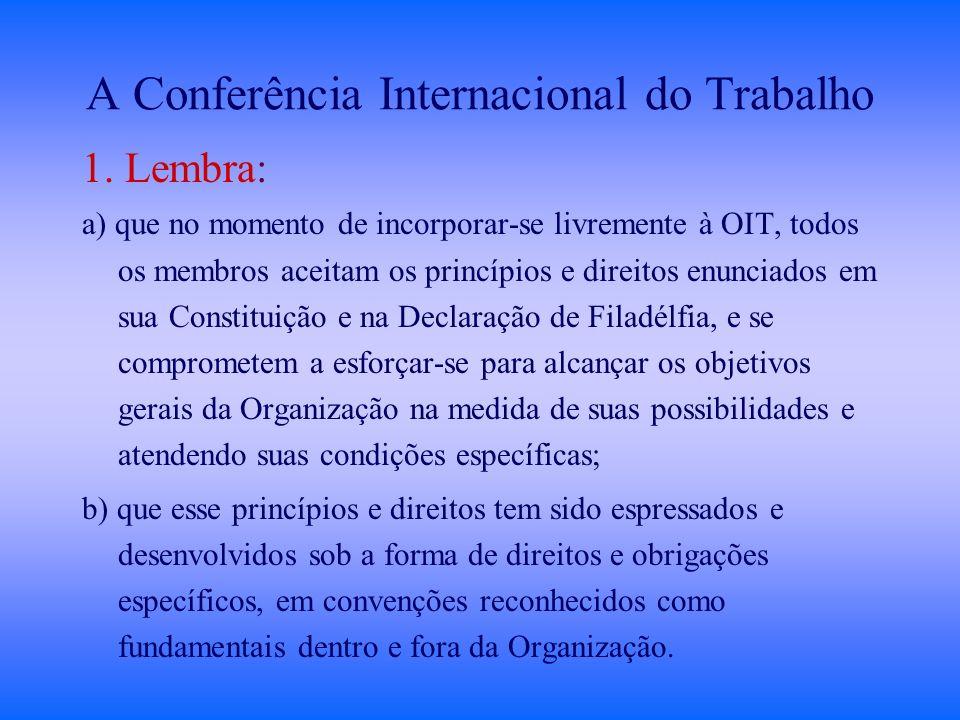 A Conferência Internacional do Trabalho