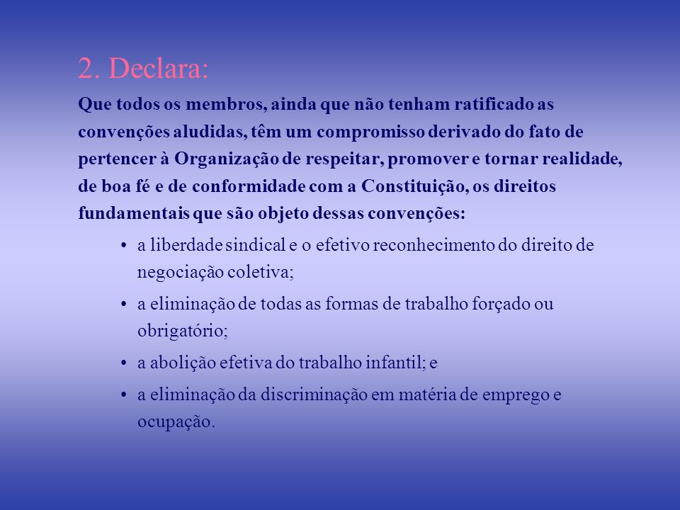 2. Declara: