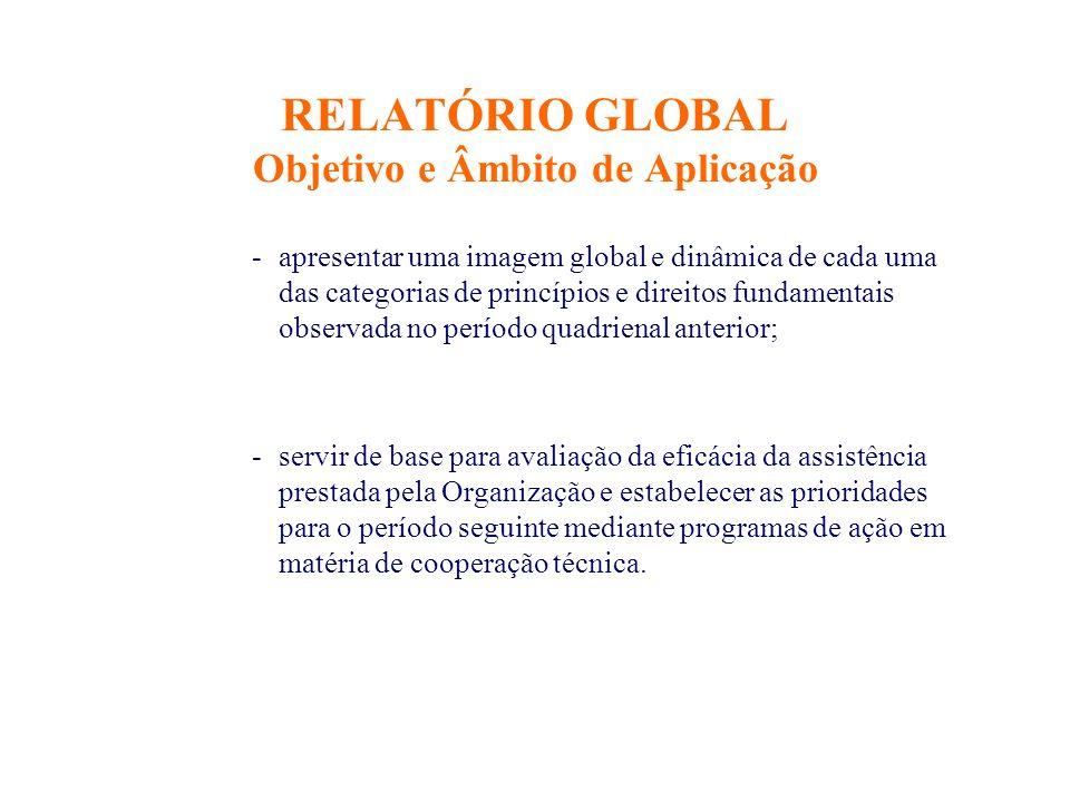 RELATÓRIO GLOBAL Objetivo e Âmbito de Aplicação