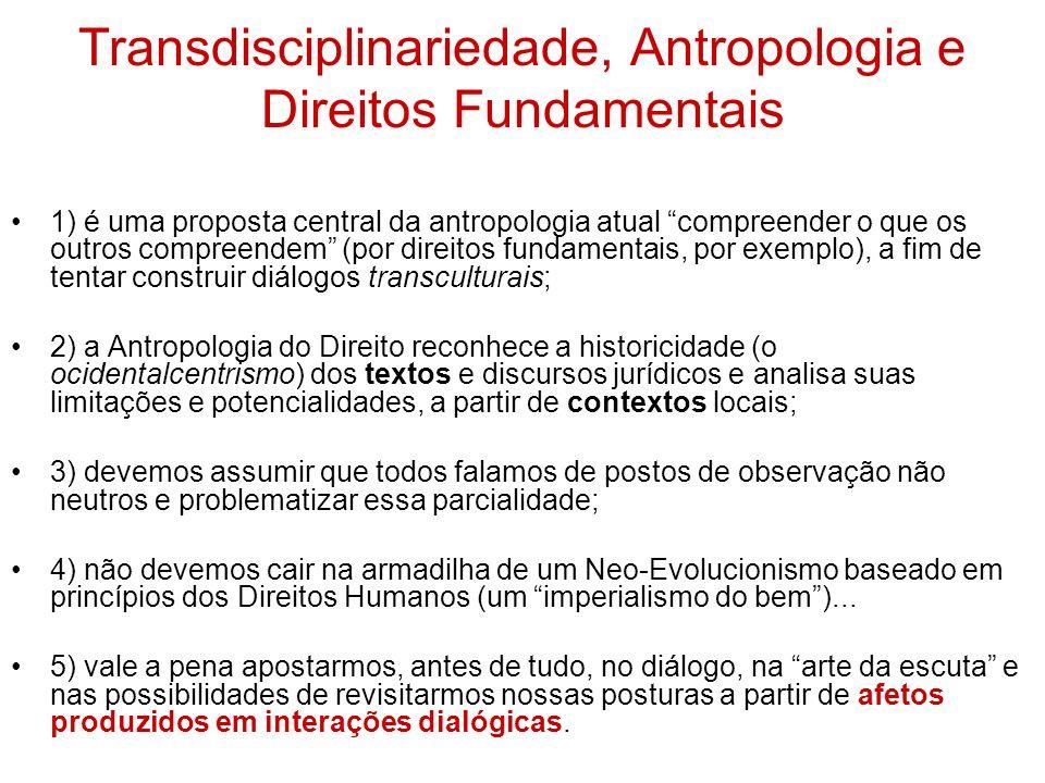 Transdisciplinariedade, Antropologia e Direitos Fundamentais