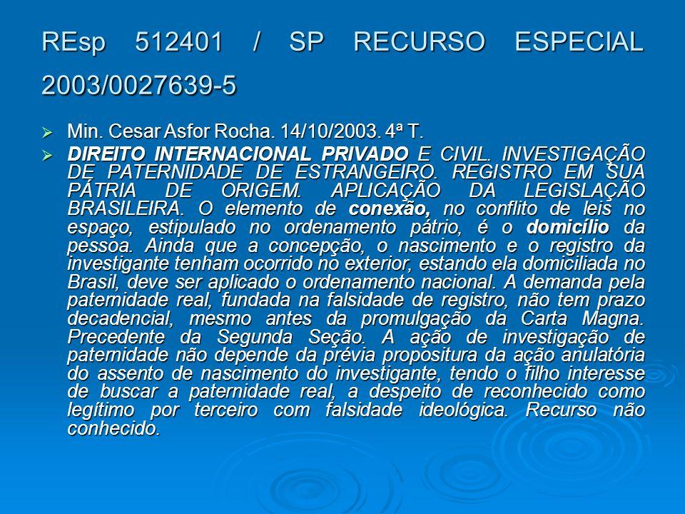 REsp 512401 / SP RECURSO ESPECIAL 2003/0027639-5