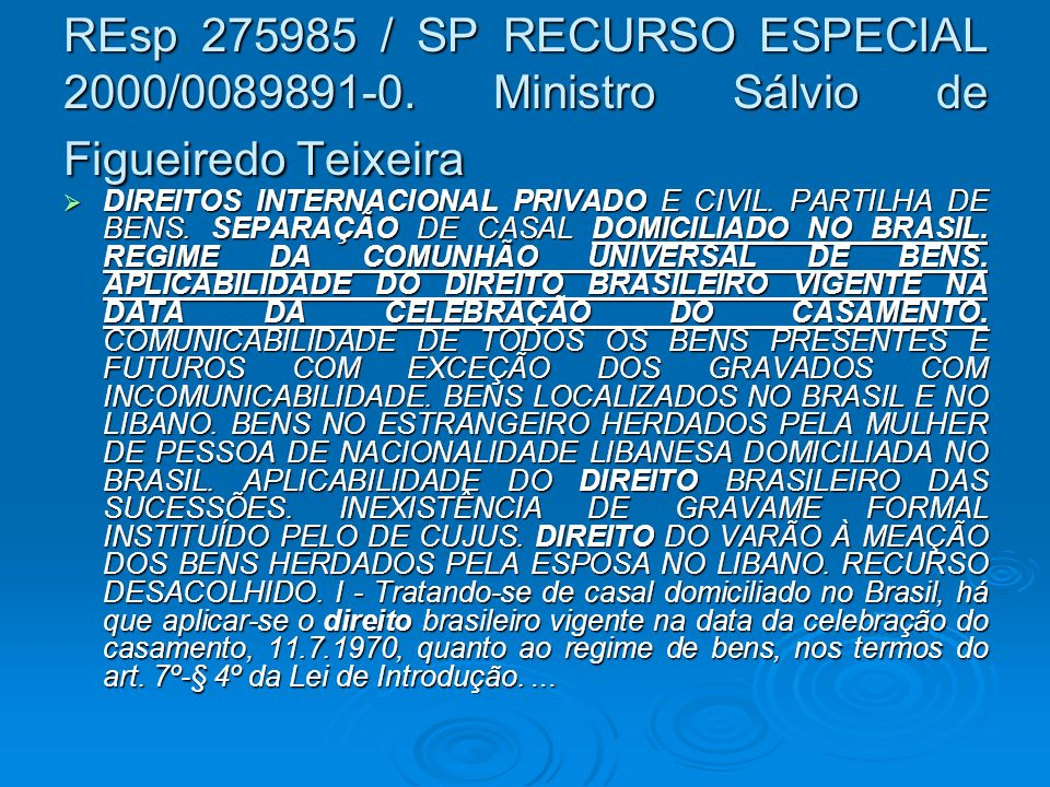 REsp 275985 / SP RECURSO ESPECIAL 2000/0089891-0