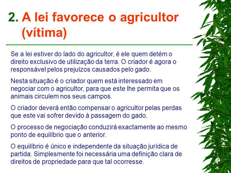 2. A lei favorece o agricultor (vítima)