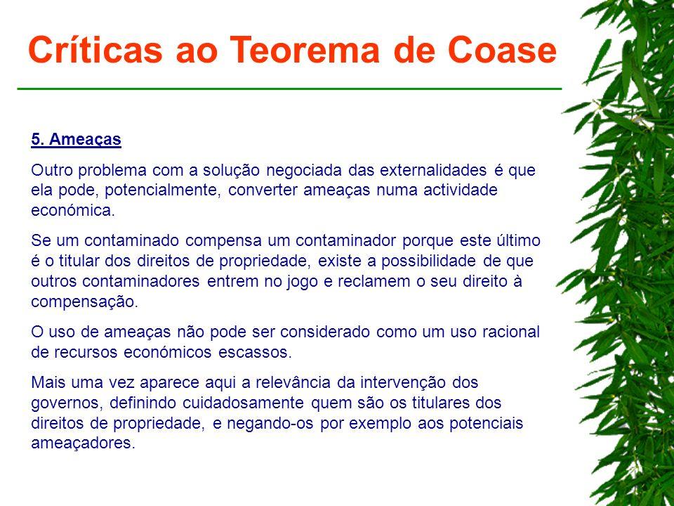 Críticas ao Teorema de Coase