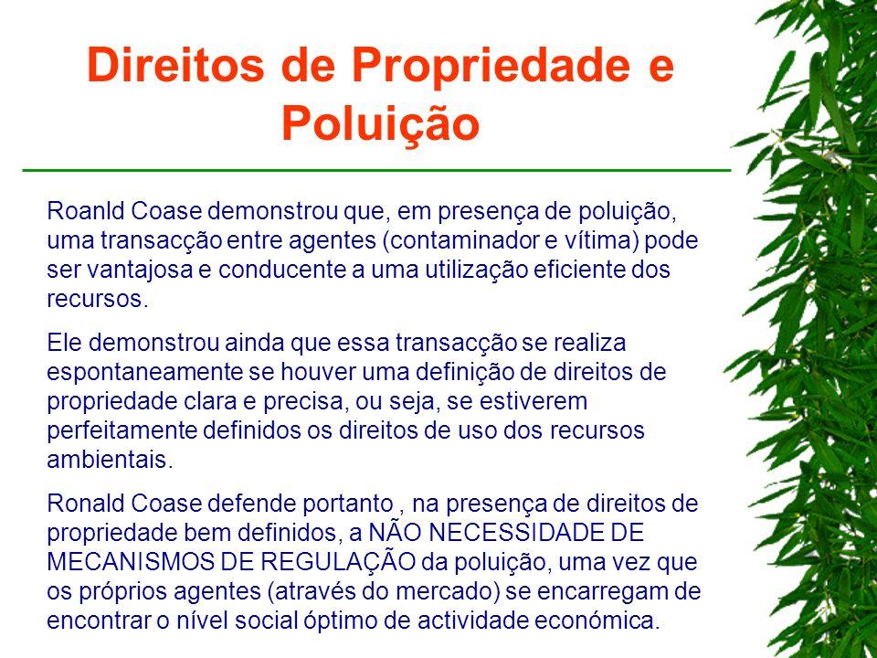 Direitos de Propriedade e Poluição
