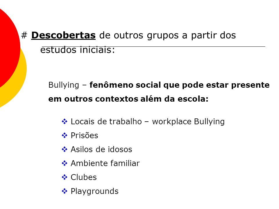 # Descobertas de outros grupos a partir dos estudos iniciais: