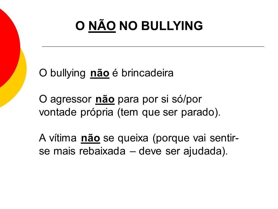 O NÃO NO BULLYING