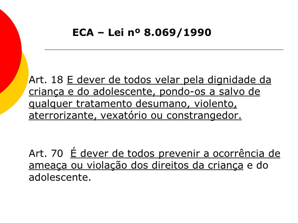 ECA – Lei nº 8.069/1990
