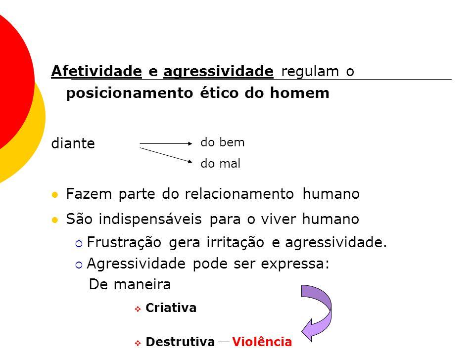 Afetividade e agressividade regulam o posicionamento ético do homem