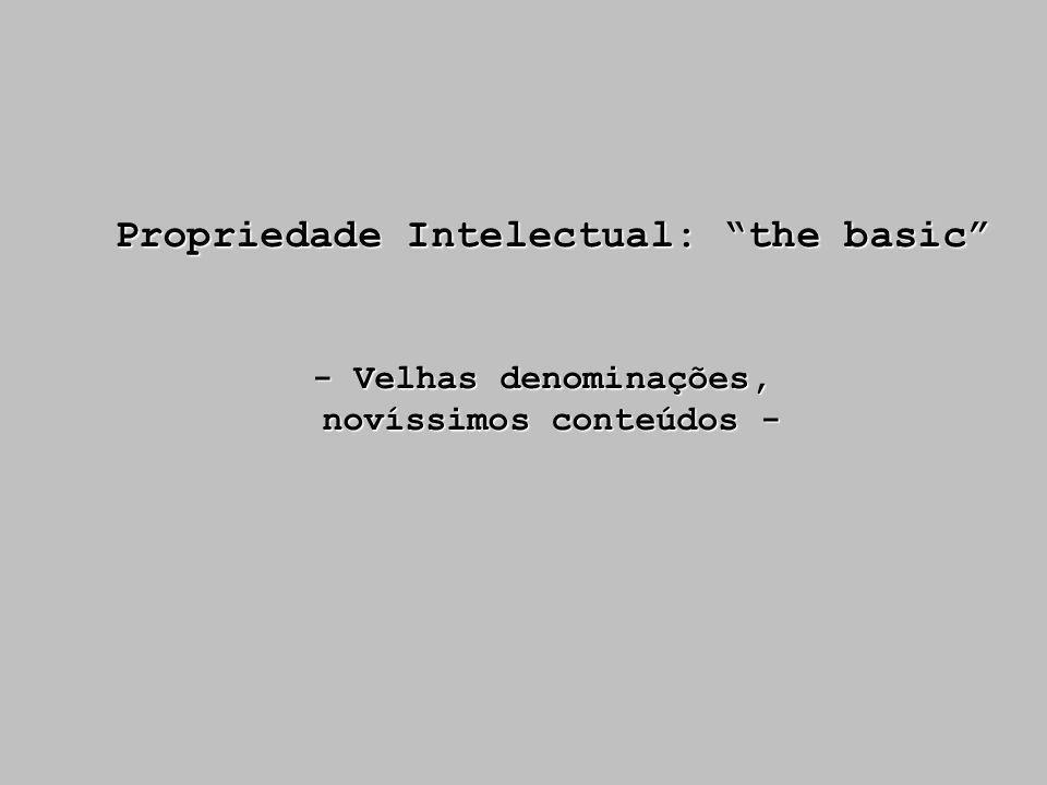 Propriedade Intelectual: the basic novíssimos conteúdos -