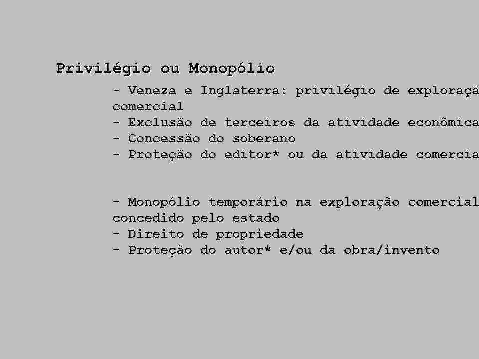 Privilégio ou Monopólio