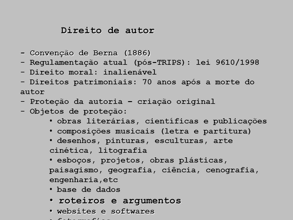 Direito de autor roteiros e argumentos - Convenção de Berna (1886)