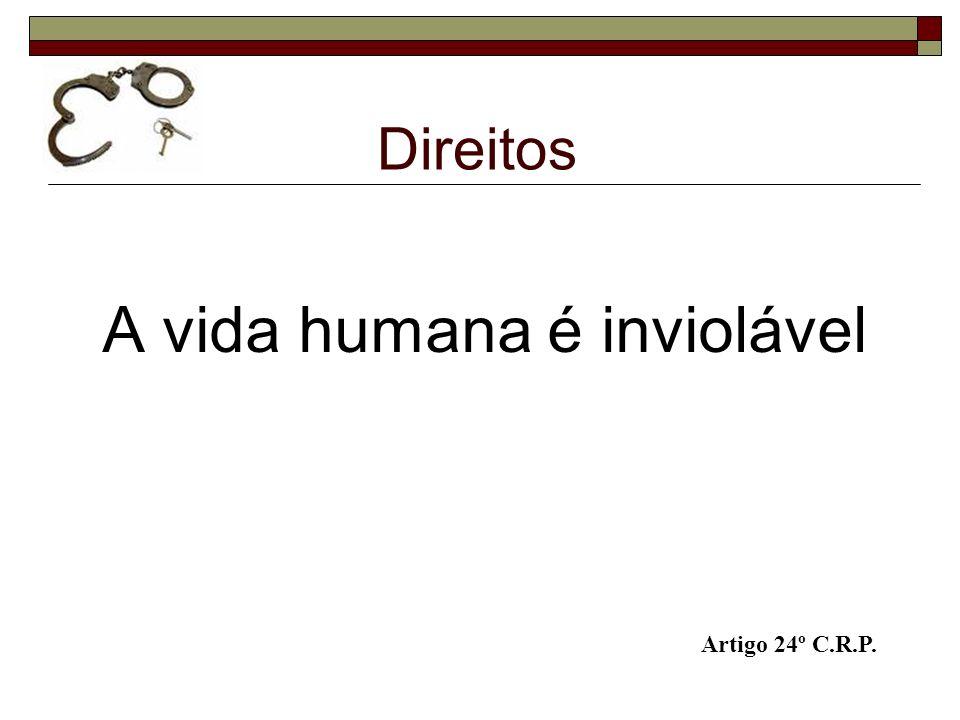 A vida humana é inviolável