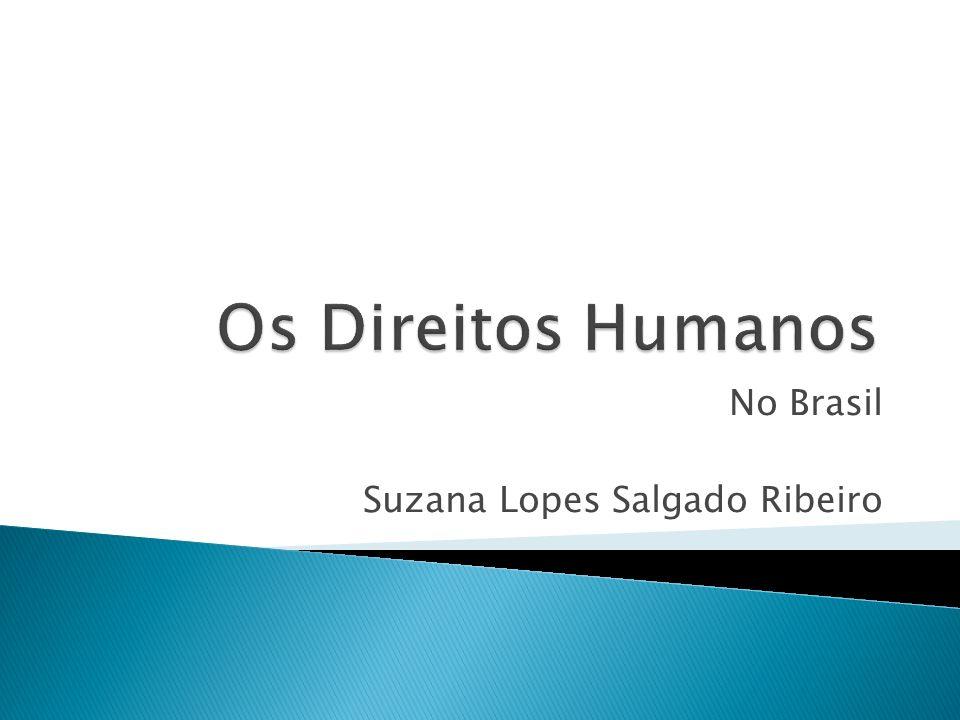 No Brasil Suzana Lopes Salgado Ribeiro