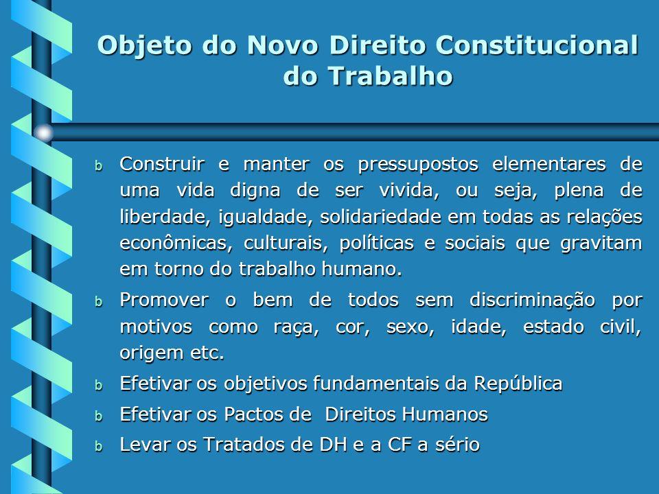Objeto do Novo Direito Constitucional do Trabalho