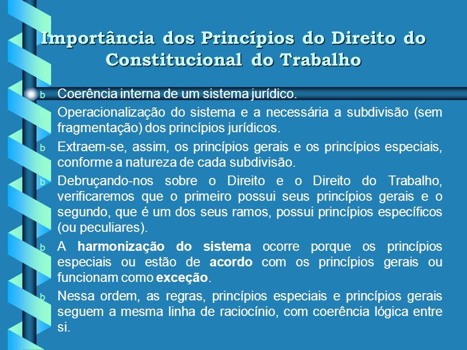 Importância dos Princípios do Direito do Constitucional do Trabalho