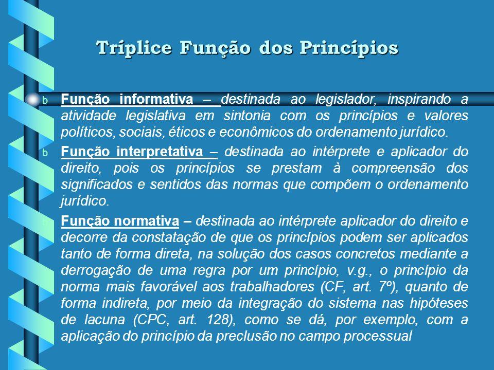 Tríplice Função dos Princípios