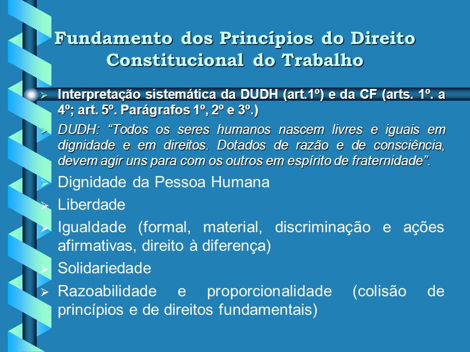 Fundamento dos Princípios do Direito Constitucional do Trabalho