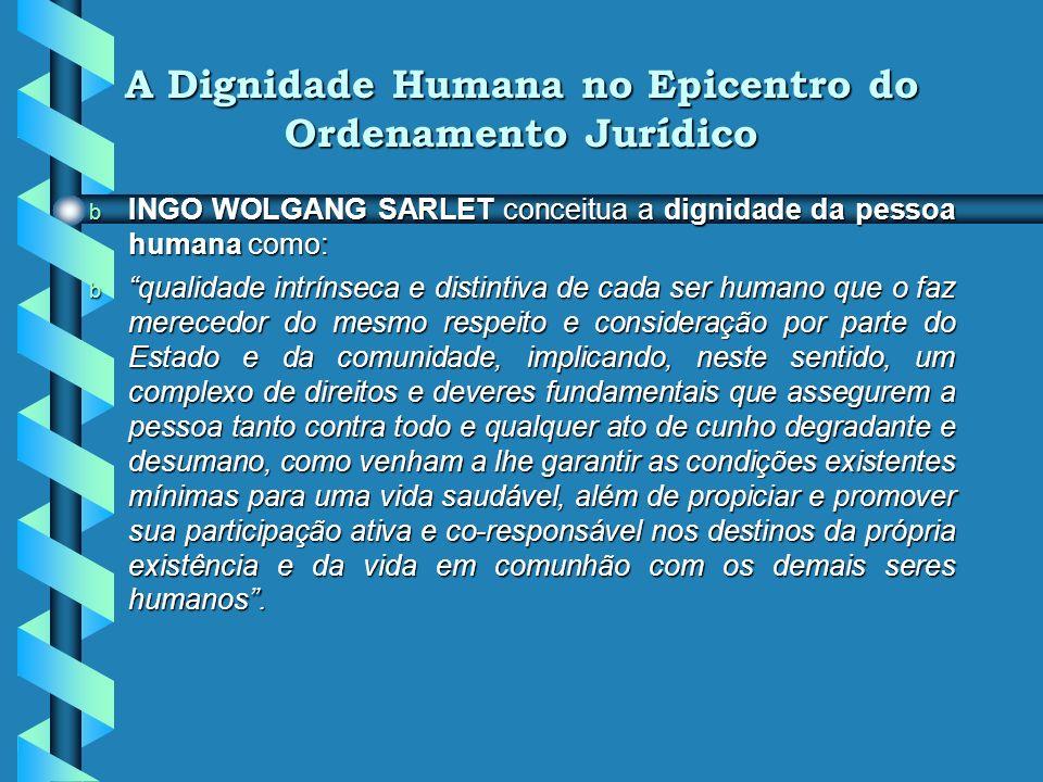 A Dignidade Humana no Epicentro do Ordenamento Jurídico