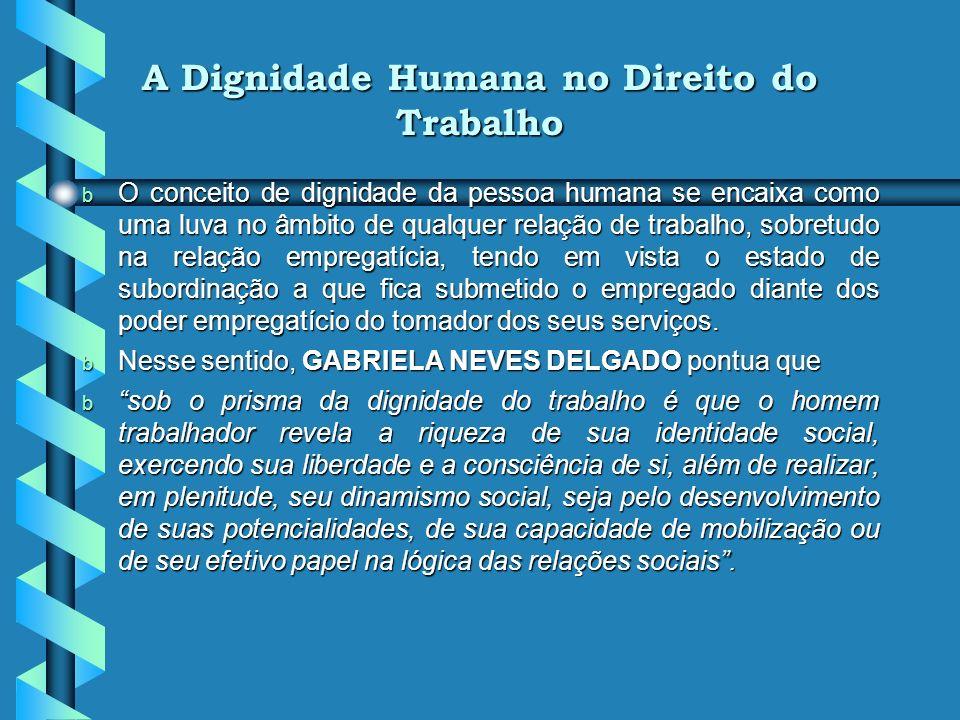 A Dignidade Humana no Direito do Trabalho
