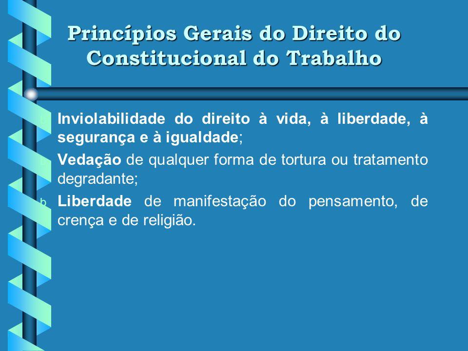 Princípios Gerais do Direito do Constitucional do Trabalho
