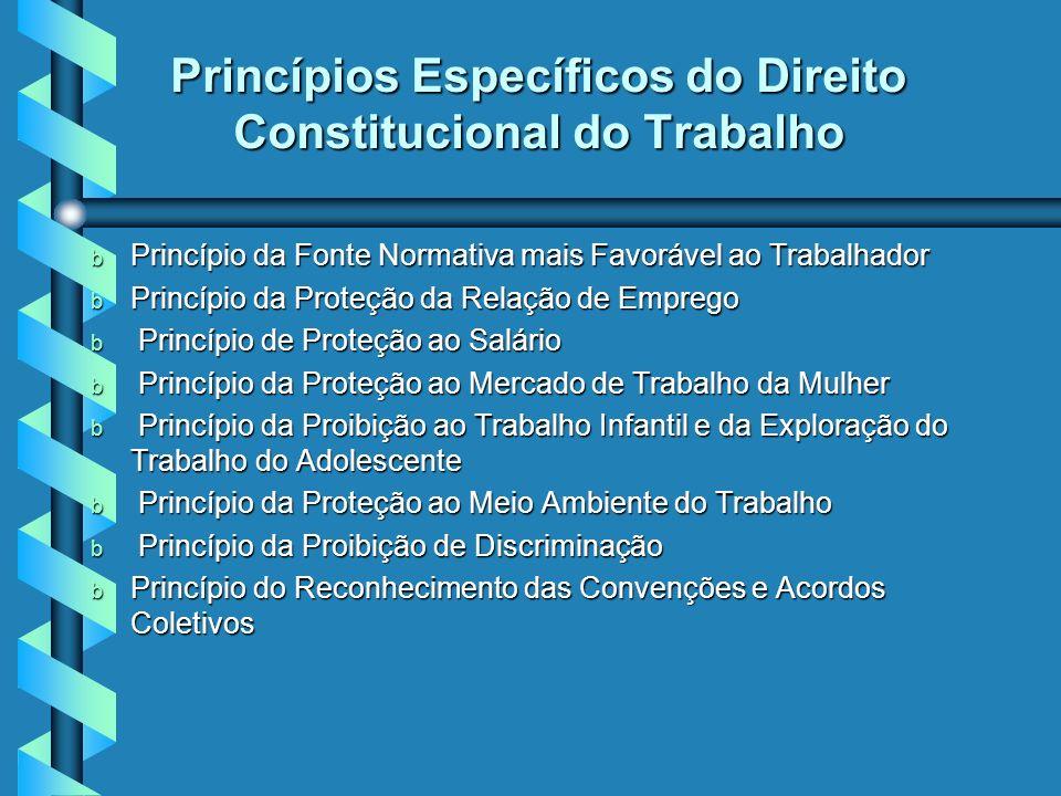 Princípios Específicos do Direito Constitucional do Trabalho