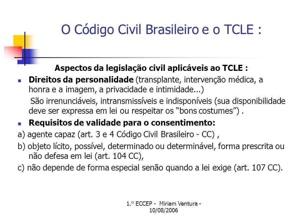 O Código Civil Brasileiro e o TCLE :
