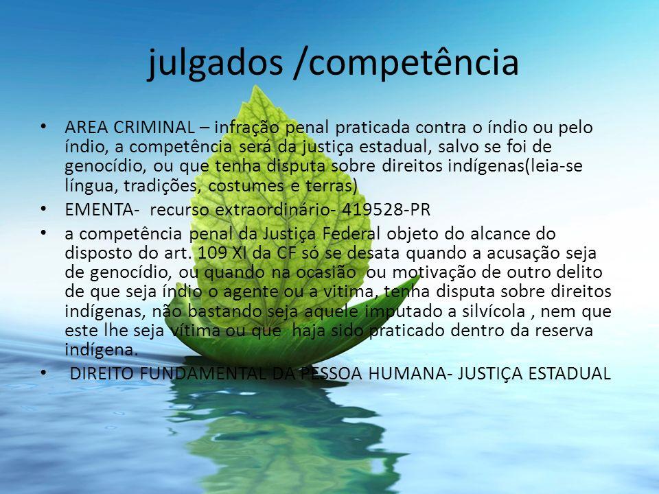 julgados /competência