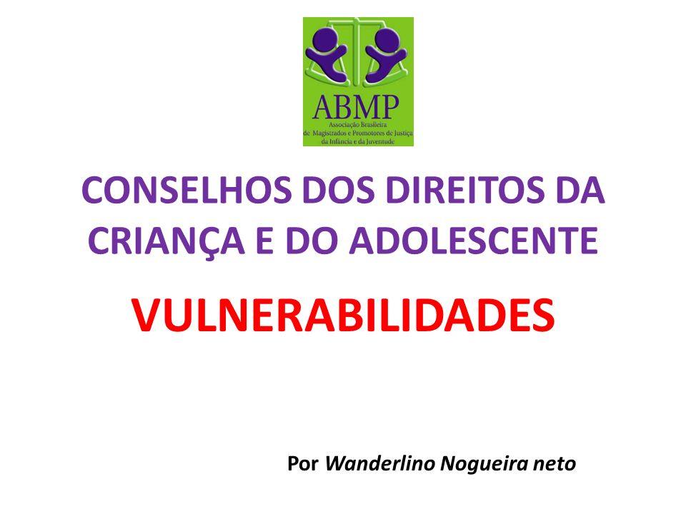 CONSELHOS DOS DIREITOS DA CRIANÇA E DO ADOLESCENTE