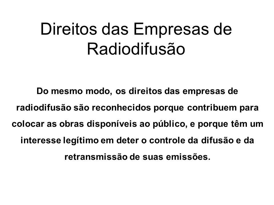 Direitos das Empresas de Radiodifusão